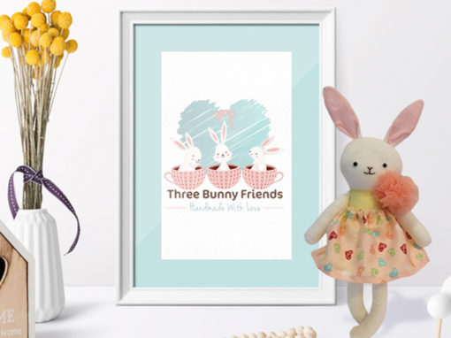 Three Bunny Friends Brand Identity Design