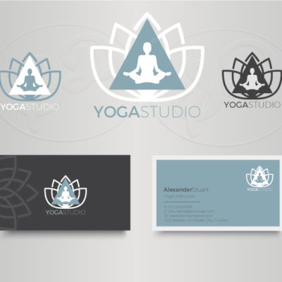 Yoga Studio Logo and business card