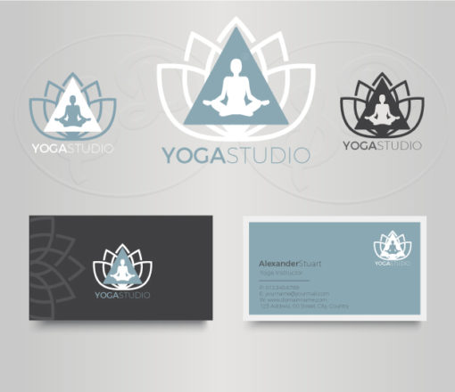 Yoga Studio Logo and business card